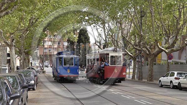 Barcelona-Spain - 16 April 2006---Historic tramway / Tramvia Blau---culture, transport, tourism---Photo: Horst Wagner / eup-images