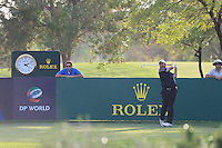 Shane Lowry (IRL) on the 13th tee during the Pro-Am for the DP World Tour Championship at the Jumeirah Golf Estates in Dubai, UAE on Monday 16/11/15.<br /> Picture: Golffile | Thos Caffrey<br /> <br /> All photo usage must carry mandatory copyright credit (&copy; Golffile | Thos Caffrey)