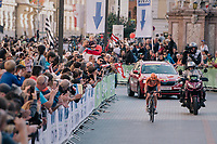 Anna van der Breggen (NED/Boels-Dolmans) on her way to gold<br /> <br /> WOMEN ELITE ROAD RACE<br /> Kufstein to Innsbruck: 156.2 km<br /> <br /> UCI 2018 Road World Championships<br /> Innsbruck - Tirol / Austria