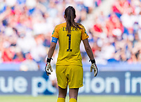 PARIS,  - JUNE 16: Christiane Endler #1 stands ready during a game between Chile and USWNT at Parc des Princes on June 16, 2019 in Paris, France.