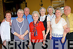 Enjoying the the Listowel active retirement Tea Dance in The Listowel Arms Hotel on Sunday were from l-r Rose O' Connor, Maureen De Lacey, Jean and Tom Smith.  back l-r Pat Anderson, Billy Foley, Margaret Murphy, and Eileen McCarthy. all from Tralee..