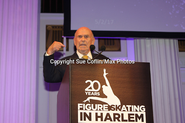 Dick Button - Figure Skating in Harlem celebrates 20 years - Champions in Life benefit Gala on May 2, 2017 in New York City, New York.  (Photo by Sue Coflin/Max Photos)