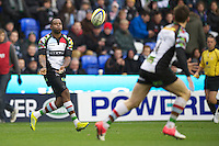 Ugo Monye of Harlequins passes during the Aviva Premiership match between London Irish and Harlequins at the Madejski Stadium on Sunday 28th October 2012 (Photo by Rob Munro)