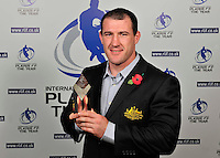 PICTURE BY SIMON WILKINSON/SWPIX.COM...Rugby League - Gillette 4 Nations 2011 - Rugby League International Federation International Player of the Year Awards 2011 - Tower of London, London, England - 02/11/11…Australia's Paul Gallen wins Loose Forward of the Year.