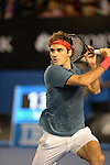 Roger Federer (SUI) loses to Rafael Nadal (ESP) 7-6, 6-3, 6-3 in the semifinals at the Australian Open in Melbourne, Australia on January 24, 2014