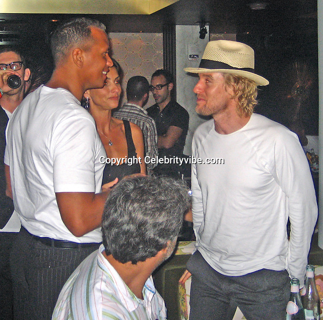 **EXCLUSIVE**.Madonna's pal Ingrid Casares introducing Alex Rodriguez to Owen Wilson..Florida Room, Delano Hotel.Miami Beach, FL, USA.Friday, December 07, 2007 .Photo By Celebrityvibe.com.To license this image please call (212) 410 5354; or.Email: celebrityvibe@gmail.com ;.website: www.celebrityvibe.com