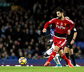 5th November 2017, Goodison Park, Liverpool, England; EPL Premier League Football, Everton versus Watford; Miguel Angel Britos of Watford  on the ball