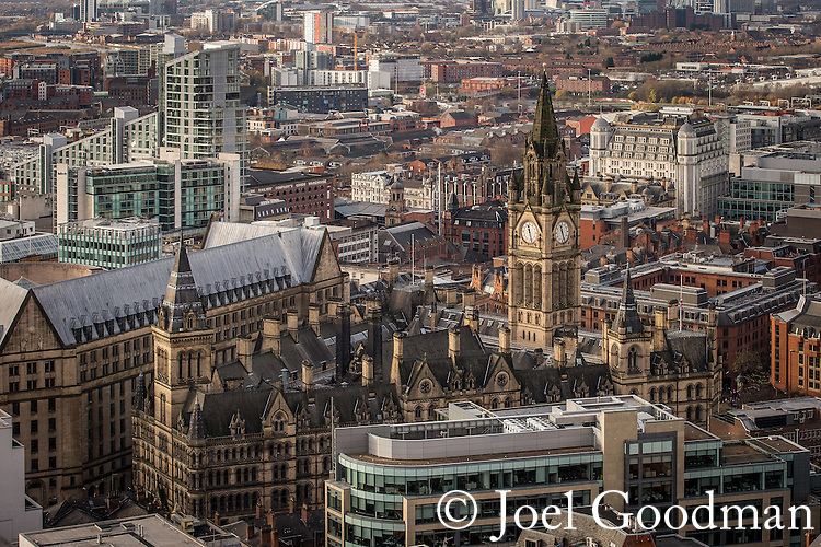 © Joel Goodman - 07973 332324 . 07/12/2013 . Manchester Town Hall . Cityscape view of Manchester . Photo credit : Joel Goodman