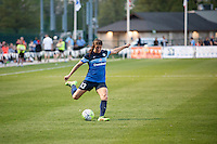 Kansas City, Mo. - Saturday April 23, 2016: FC Kansas City defender Brittany Taylor (13) kicks the ball during a match against Portland Thorns FC at Swope Soccer Village. The match ended in a 1-1 draw.