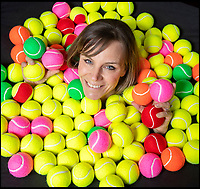 BNPS.co.uk (01202 558833)<br /> Pic: PhilYeomans/BNPS<br /> <br /> Smashed it - The last tennis ball maker in the Western world is bouncing back...<br /> <br /> Louise Price of tennis ball maker Price of Bath is leading the family business's fight back against far eastern competition than nearly wiped out the company a few decades ago.<br /> <br /> And the company is now doing so well again that it will soon be moving to brand new larger factory in Box in Wiltshire.<br /> <br /> Price of Bath was set up by her grandfather Joseph in the 1930's and after WW2 employed 120 people churning out 84,000 balls a week - nowadays it's the last tennis ball maker in the western world, and produces a much more modest 6000 balls a week from raw rubber from Malaysia to finished product.<br /> <br /> Louise's father Derek, who invented the rubber tiles used on nuclear powered submarines as well as running the family business, still works full time in the dickensian factory at the age of 88.