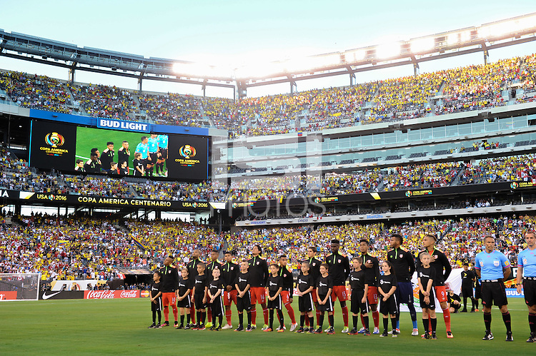 East Rutherford, NJ - Friday June 17, 2016: Peru  after a Copa America Centenario quarterfinal match between Peru (PER) vs Colombia (COL) at MetLife Stadium.