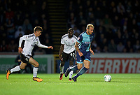 Max Muller of Wycombe Wanderers during the Carabao Cup match between Wycombe Wanderers and Fulham at Adams Park, High Wycombe, England on 8 August 2017. Photo by Alan  Stanford / PRiME Media Images.