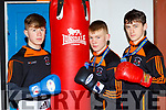 Sliabh Luachra BC boxers Paddy Walsh Kenmare, Jordan coffey Castleisland and Barry O'Connor Killorglin who won Munster titles in Waterford on Sunday