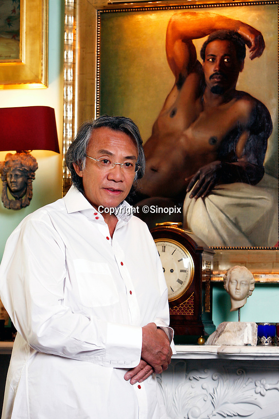 David Tang in his home in Hong Kong.<br /> 12 April, 2007