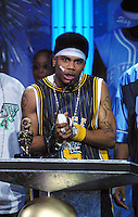Nelly accepts an award at The Source Hip-Hop Music Awards 2001 at the Jackie Gleason Theater in Miami Beach, Florida.  8/20/01  Photo by Scott Gries/ImageDirect