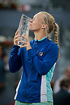 Kiki Bertens during the Mutua Madrid Open Masters match on day eight at Caja Magica in Madrid, Spain.May 11, 2019. (ALTERPHOTOS/A. Perez Meca)