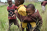 The bond of a true friendship in Marigoini Slums, Nairobi, Kenya. <br />