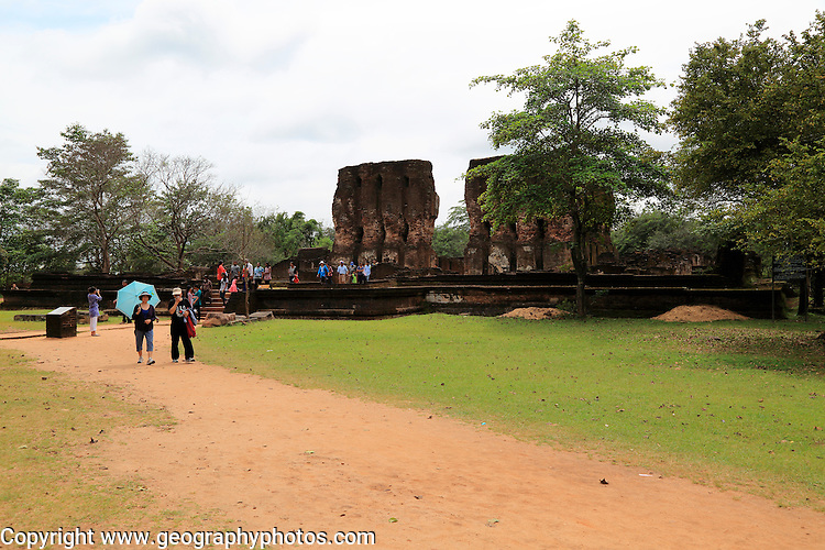 Royal palace in the Citadel, UNESCO World Heritage Site, the ancient city of Polonnaruwa, Sri Lanka, Asia