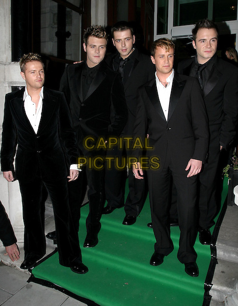 WESTLIFE<br /> NICKY BYRNE, Brian MCFADDEN, MARK FEEHILY, KIAN EGAN &amp; SHANE FILAN<br /> at the Irish Embassy, Grosvenor Place<br /> 26/11/2003<br /> boyband<br /> www.capitalpictures.com<br /> sales@capitalpictures.com<br /> &copy; Capital Pictures