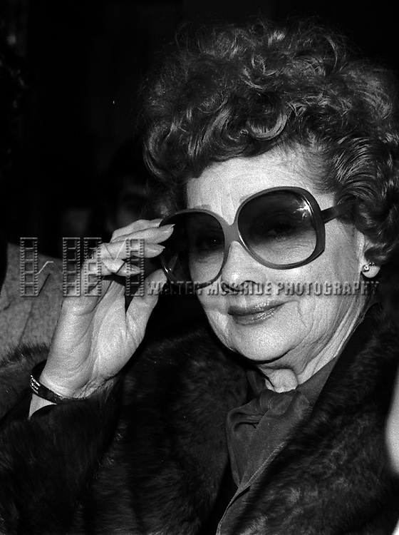 Lucy Ball  ( Lucille Ball ) .Attending a Broadway Show.in New York City..( Leaving her Car / Limo ).December 1982.© Walter McBride /