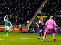 28th February 2020; Easter Road, Edinburgh, Scotland; Scottish Cup Football, Hibernian versus Inverness Caledonian Thistle; Scott Allan of Hibernian scores to make it 2-0 to Hibernian