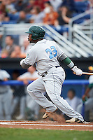 Vermont Lake Monsters outfielder B.J. Boyd (23) during a game against the Batavia Muckdogs on July 12, 2013 at Dwyer Stadium in Batavia, New York.  Batavia defeated Vermont 4-2.  (Mike Janes/Four Seam Images)