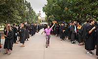 The class of 2022 are welcomed to Occidental College by trustees, faculty and staff in Thorne Hall on Aug. 28, 2018 during Oxy's 131th Convocation ceremony, a tradition that formally marks the start of the academic year and welcomes the new class.<br /> (Photo by Marc Campos, Occidental College Photographer)