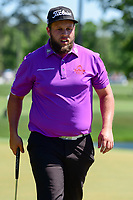 Andrew Johnston (GBR) after sinking his putt on 12 during round 2 of the Shell Houston Open, Golf Club of Houston, Houston, Texas, USA. 3/31/2017.<br /> Picture: Golffile | Ken Murray<br /> <br /> <br /> All photo usage must carry mandatory copyright credit (&copy; Golffile | Ken Murray)