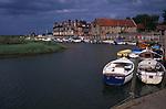 AE2KT6 Blakeney quayside boats Norfolk England