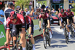 Team Ineos including Tao Geoghegan Hart (GBR) recon Stage 1 of La Vuelta 2019, a team time trial running 13.4km from Salinas de Torrevieja to Torrevieja, Spain. 24th August 2019.<br /> Picture: Eoin Clarke | Cyclefile<br /> <br /> All photos usage must carry mandatory copyright credit (© Cyclefile | Eoin Clarke)