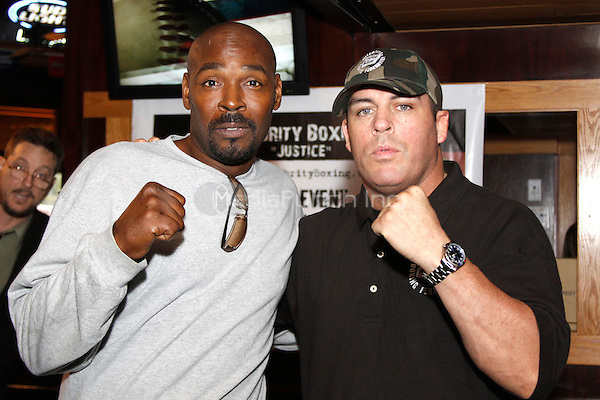Rodney King pictured with promoter Damon Feldman at a press conference for his Celebrity Boxing match in Philadelphia, Pa on September 9, 2009  © Star Shooter / MediaPunchInc