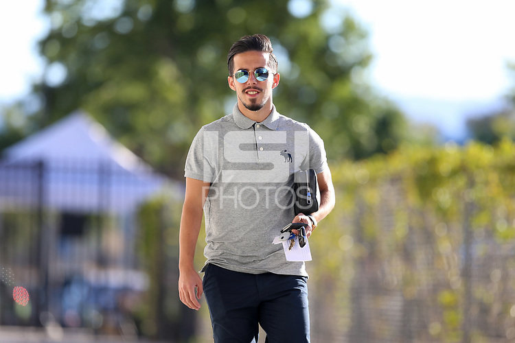 San Jose, CA - Saturday September 15, 2018: Jahmir Hyka prior to a Major League Soccer (MLS) match between the San Jose Earthquakes and Sporting Kansas City at Avaya Stadium.