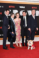 """Matt Smith, Dame Eileen Atkins, Claire Foy, Peter Morgan and Stephen Daldry<br /> at the World Premiere of the Netflix series """"The Crown"""" at the Odeon Leicester Square, London.<br /> <br /> <br /> ©Ash Knotek  D3192  01/11/2016"""