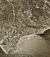 historical aerial photograph Malibu, Los Angeles County, California, 1994