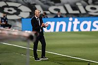 10th July 2020; Estadio Alfredo Di Stefano, Madrid, Spain; La Liga Football, Real Madrid versus Deportivo Alaves; Zinedine Zidane Coach of Real Madrid ponders the play