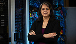 Tanu Malik, assistant professor of databases, high performance and scientific computing and operating systems, in the College of Computing and Digital Media and the co-director of the Data Systems and Optimization Lab. (DePaul University/Jeff Carrion)