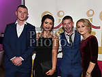 Cian Walsh, Chloe Smith, Dean Brodigan and Nadine Murphy at A Night At The Oskars in City North hotel. Photo:Colin Bell/pressphotos.ie