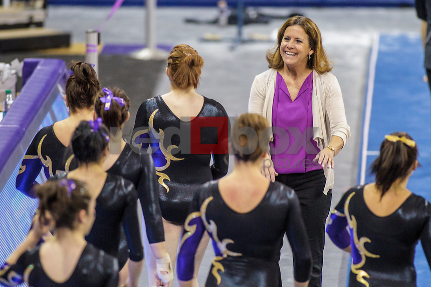 Joanne Bowers - Head Coach-University of Washington Huskies gymnastics team takes on San Jose State University and Central Michigan at Alaska Airlines Arena in Seattle Mar. 9, 2012. (Photos by Andy Rogers/Red Box Pictures)
