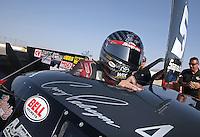 Apr. 7, 2013; Las Vegas, NV, USA: NHRA funny car driver Cruz Pedregon after winning the Summitracing.com Nationals at the Strip at Las Vegas Motor Speedway. Mandatory Credit: Mark J. Rebilas-