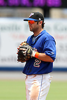 St. Lucie Mets second baseman Rylan Sandoval #2 during a game against the Charlotte Stone Crabs at Digital Domain Park on June 21, 2011 in Port St Lucie, Florida.  St. Lucie defeated Charlotte 9-0.  (Mike Janes/Four Seam Images)