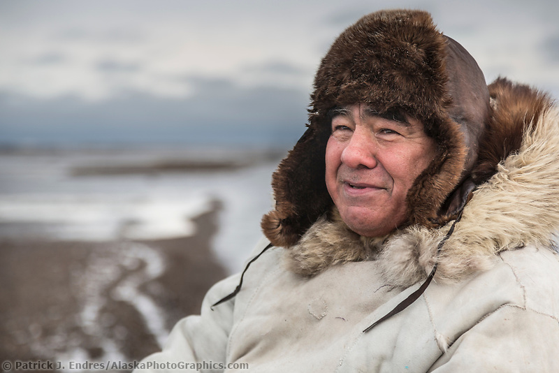 Native Alaskan guide Robert Thompson in Alaska's arctic