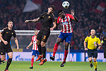 Atletico de Madrid Thomas Teye and Roma Diego Perotti during UEFA Champions League match between Atletico de Madrid and Roma at Wanda Metropolitano in Madrid, Spain. November 22, 2017. (ALTERPHOTOS/Borja B.Hojas)