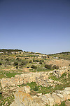 Israel, Lower Galilee, the ancient wall in Tel Yodfat identified as the site of Biblical Yatva, Yodfat was a Jewish stronghold during the rebellion against the Romans