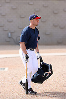 Travis Hafner. Cleveland Indians spring training workouts at their complex in Goodyear, AZ - 03/06/2010.Photo by:  Bill Mitchell/Four Seam Images.