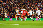 Daniel Sturridge of Liverpool opens the scoring with the first goal from the penalty spot during the UEFA Europa League match at Anfield. Photo credit should read: Philip Oldham/Sportimage