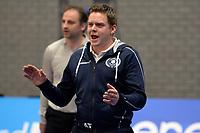 GRONINGEN - Volleybal, Abiant Lycurgus - Orion, Alfa College , Eredivisie , seizoen 2017-2018, 16-12-2017 Lycurgus coach Arjan Taaij