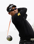 SUZHOU, CHINA - APRIL 15:  Thongchai Jaidee of Thailand tee off on the 9th hole during the Round One of the Volvo China Open on April 15, 2010 in Suzhou, China. Photo by Victor Fraile / The Power of Sport Images
