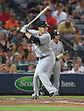 Masahiro Tanaka (Yankees), AUGUST 28, 2015 - MLB : Masahiro Tanaka of the New York Yankees bats in his first at-bat in the second inning during the Major League Baseball Interleague game against the Atlanta Braves at Turner Field in Atlanta, Georgia, United States. (Photo by AFLO)