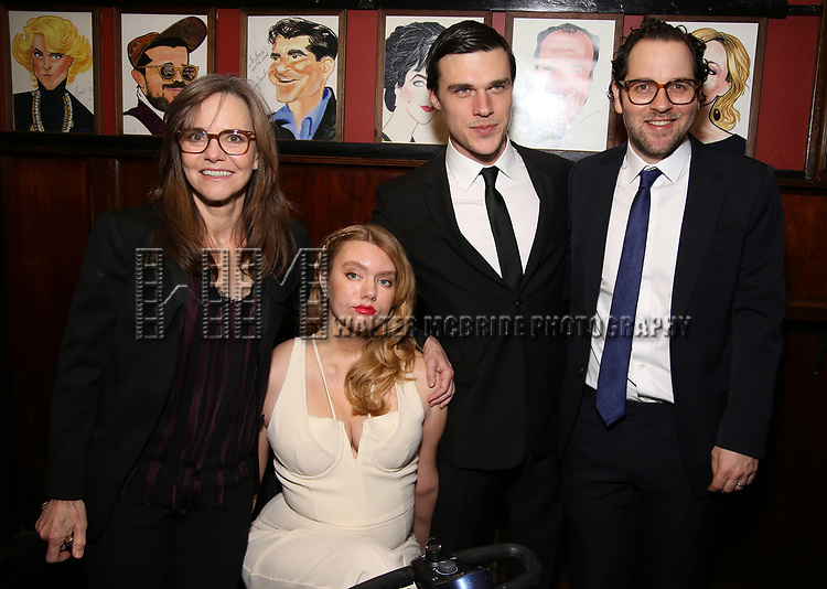 """Sally Field, Madison Ferris, Finn Wittrock and Sam Gold attend the Broadway Opening Night After Party for """"The Glass Menagerie'"""" at Sardi's on March 9, 2017 in New York City."""
