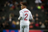 Max Aarons (Norwich City) of England U21 during the UEFA Euro U21 International qualifier match between England U21 and Austria U21 at Stadium MK, Milton Keynes, England on 15 October 2019. Photo by Andy Rowland.
